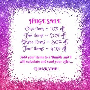 HUUUUUGE SALE ~ ALL ITEMS!!